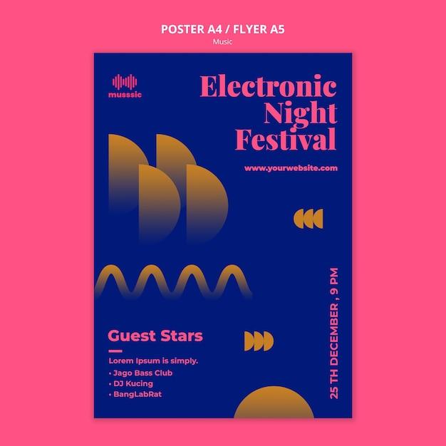 Cartaz de modelo da exposição musical Psd grátis