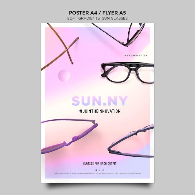 Cartaz de modelo de loja de óculos de sol Psd grátis