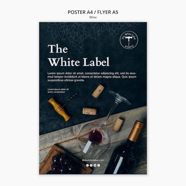 Cartaz de modelo de loja de vinhos Psd grátis