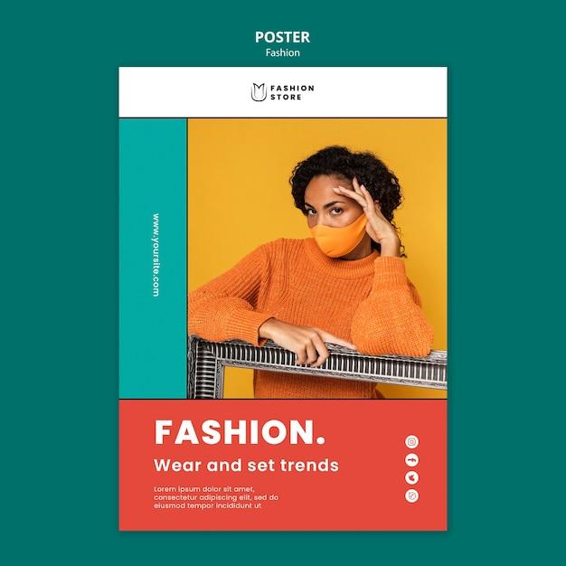 Cartaz de tendências de moda Psd Premium