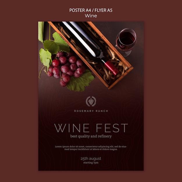 Cartaz para degustação de vinhos Psd grátis