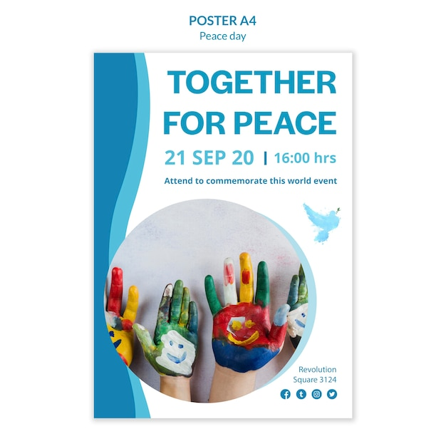 Cartaz para o dia internacional da paz Psd grátis