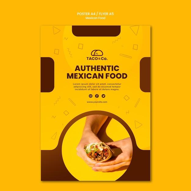 Cartaz para restaurante de comida mexicana Psd grátis
