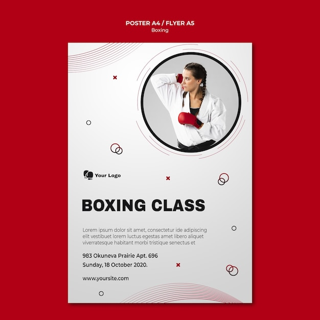 Cartaz para treinamento de boxe Psd grátis