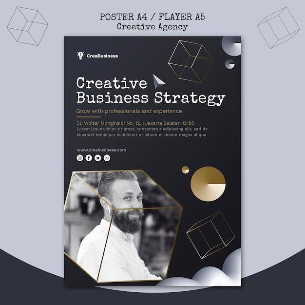 Cartaz vertical para empresa parceira de negócios Psd Premium