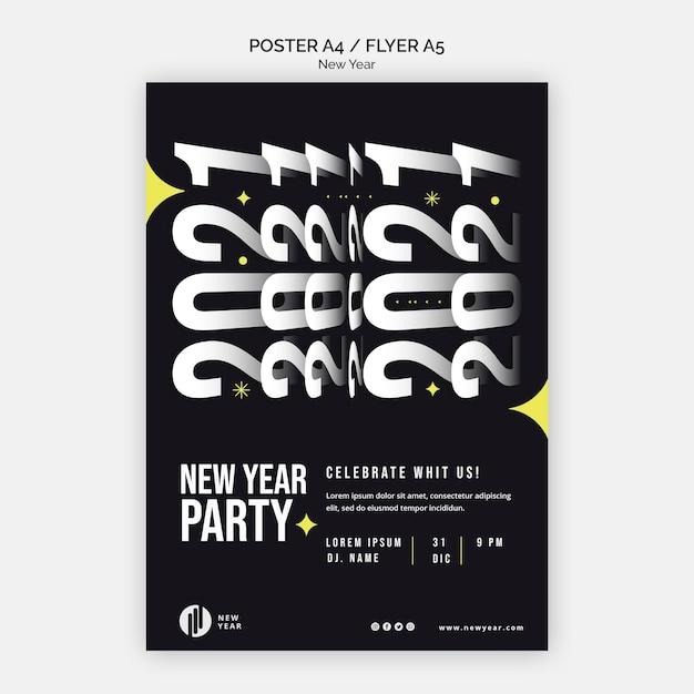 Cartaz vertical para festa de ano novo Psd grátis