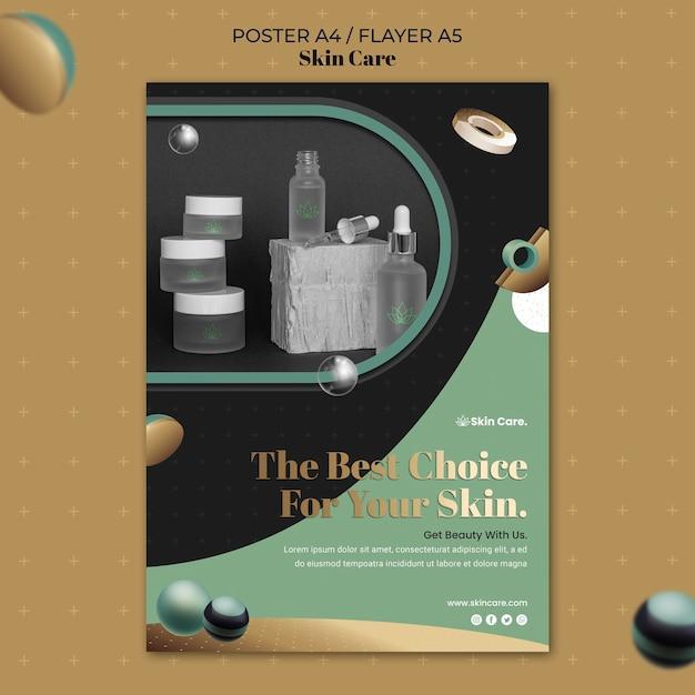 Cartaz vertical para produtos para a pele Psd grátis