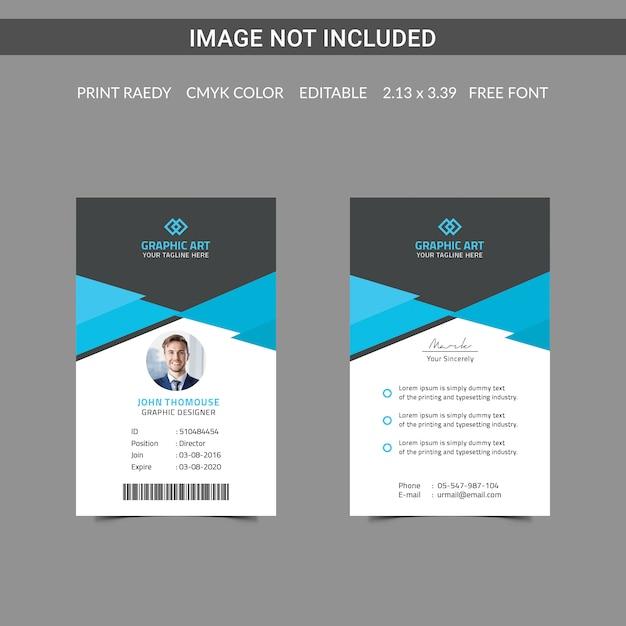Carteira de identidade Psd Premium