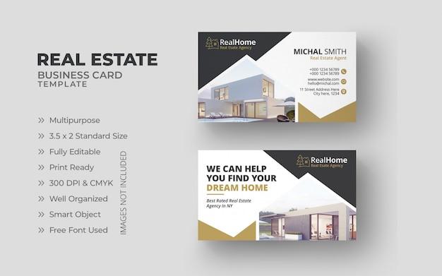 Cartões de negócio imobiliário Psd Premium