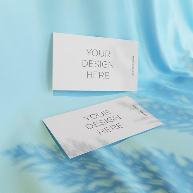 Cartões de visita de maquete em seda Psd Premium