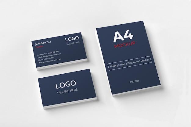 Cartões de visita e documentos Psd Premium