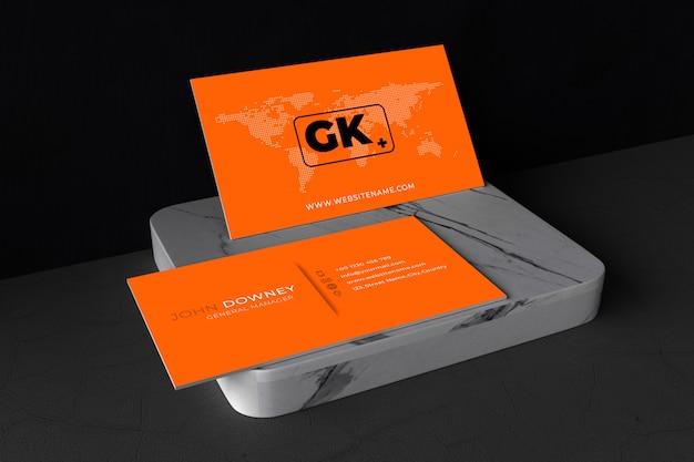 Cartões de visita mockup. Psd Premium