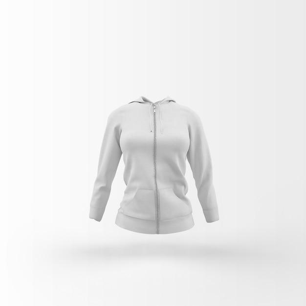 Casaco de lã branco flutuando no branco Psd grátis