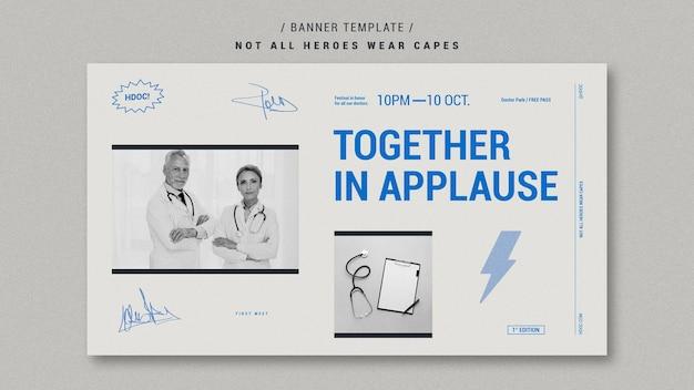 Celebrando os médicos banner design Psd grátis