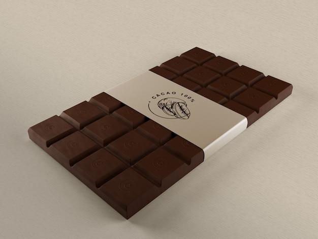 Chocolate embrulho de papel mock-up Psd grátis