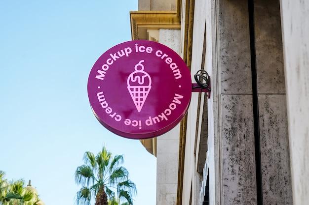 Cidade de sorvete de maquete Psd grátis