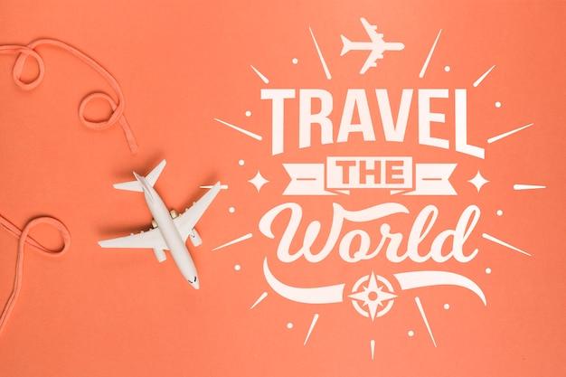 Citação de rotulação motivacional para férias viajando conceito Psd grátis