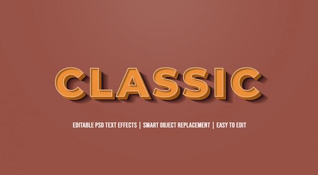 Clássico - efeitos de texto antigos do vintage Psd Premium