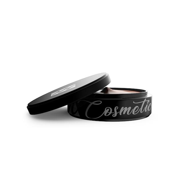 Close-up em cosmetic jar mockup isolated Psd Premium