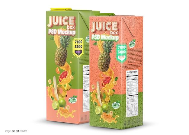 Close-up em juice box mockup isolado Psd Premium