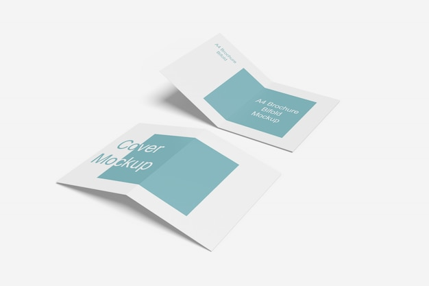 Close-up in various purpose bifold brochure Psd Premium