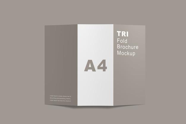 Close-up na brochura trifold mockup isolated Psd Premium