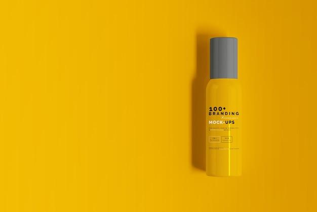 Close-up na embalagem de maquete de frasco cosmético Psd Premium