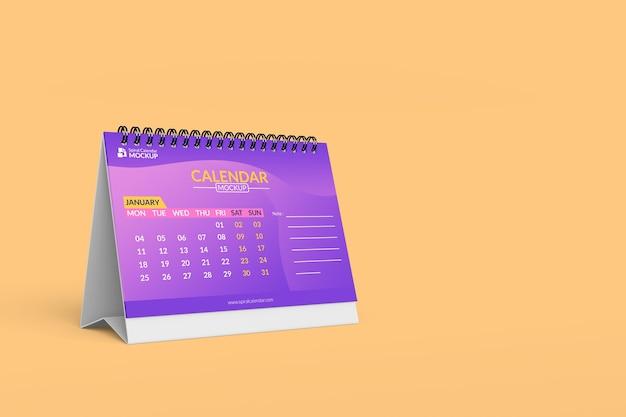 Close-up na maquete de calendário espiral de alta qualidade Psd Premium