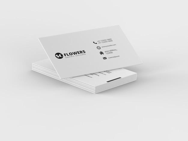 Close-up na maquete de cartão de visita de papel Psd Premium