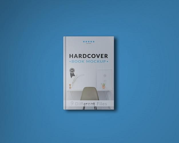 Cobertura do livro no fundo azul mock up Psd grátis