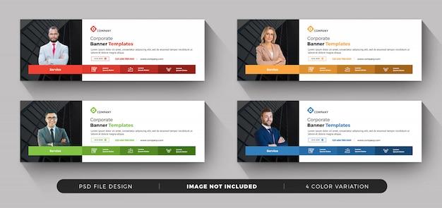 Coleção de banner de negócios Psd Premium