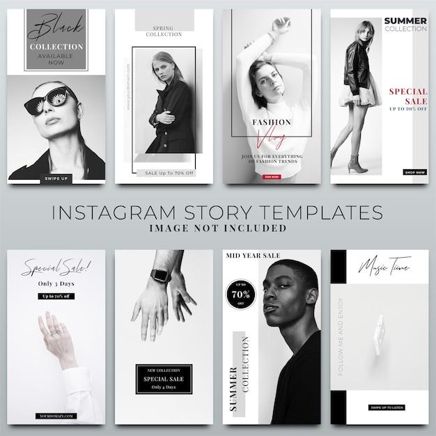 Coleção de histórias do instagram para o modelo de mídia social Psd Premium