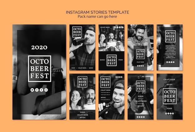Coleção de histórias do instagram para octobeerfest Psd grátis