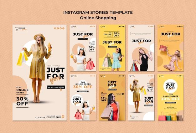 Coleção de histórias do instagram para venda de moda on-line Psd grátis