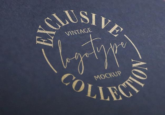 Coleção de maquete de logotipo vintage exclusivo Psd Premium
