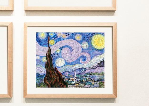 Coleção de peças de arte coloridas na parede Psd grátis