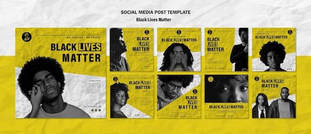 Coleção de postagens do instagram para vidas negras importa Psd grátis