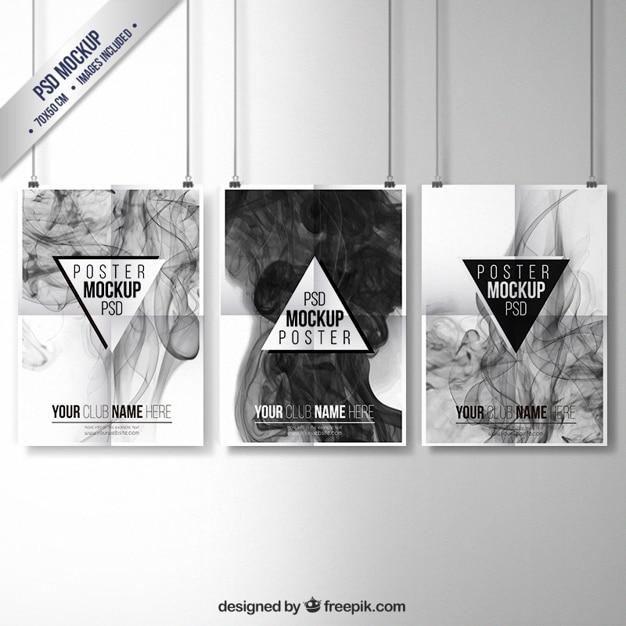 Coleção posters smoky Psd grátis