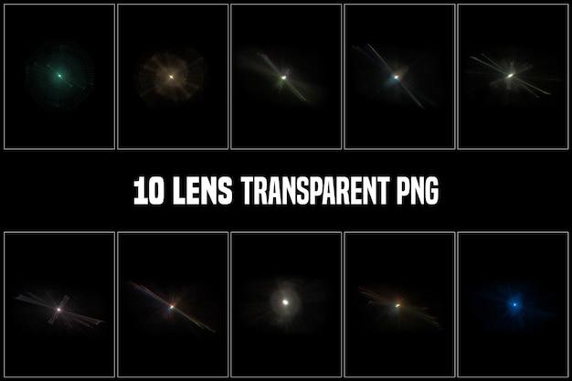 Coleção transparente de lentes Psd Premium