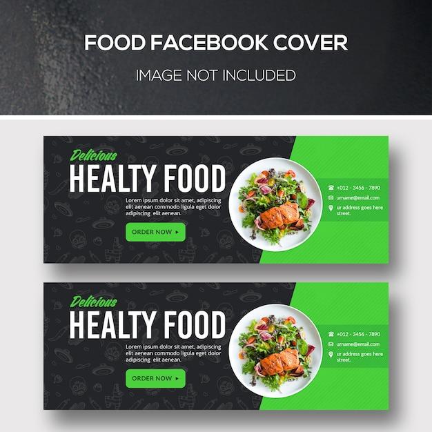 Comida capa do facebook Psd Premium