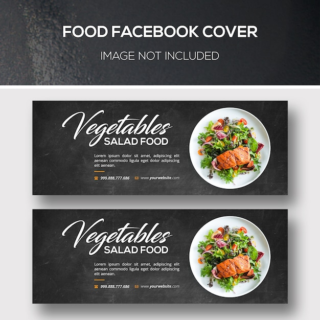 Comida capa para facebook Psd Premium