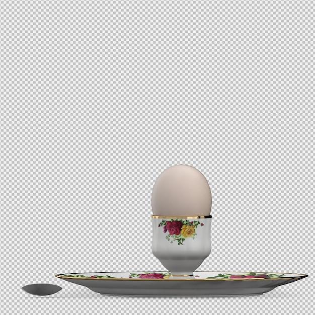 Comida isométrica na placa 3d render Psd Premium