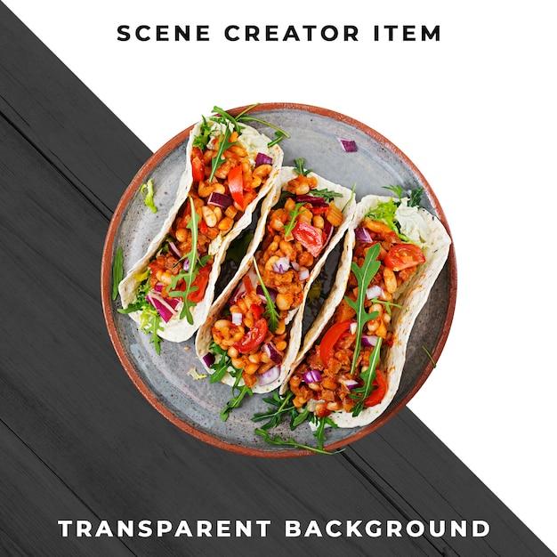 Comida mexicana psd transparente Psd Premium