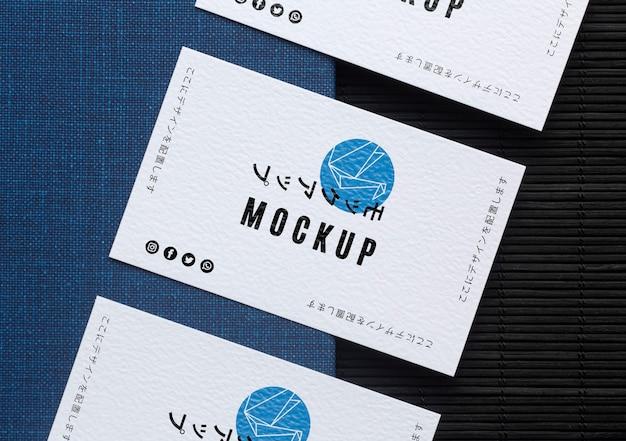 Composição da maquete de cartão de visita Psd grátis