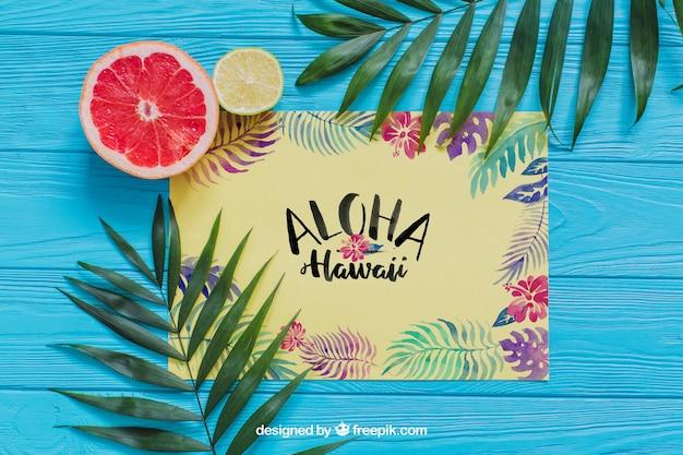 Composição de aloha Psd grátis