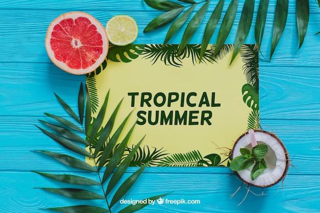 Composição summa tropical Psd grátis