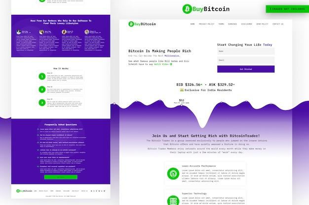Comprar página do site bitcoin Psd Premium