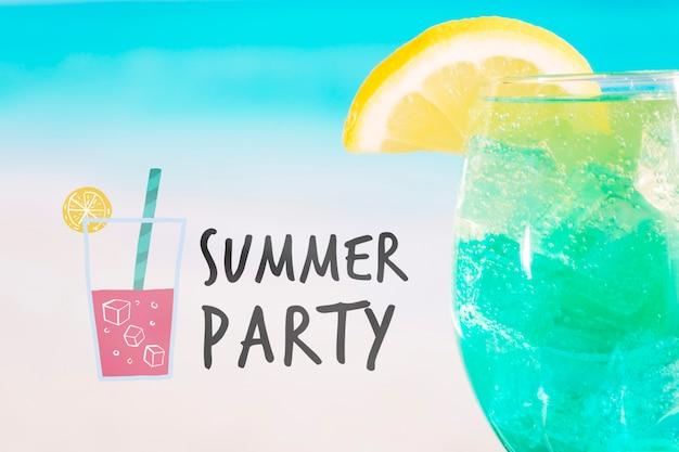 Conceito cocktail de verão com maquete copyspace Psd grátis