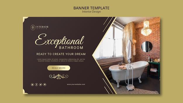 Conceito de banner de design de interiores Psd Premium