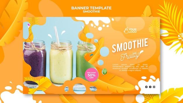 Conceito de banner smoothie Psd grátis